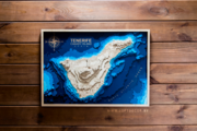 Тенерифе на карте из дерева